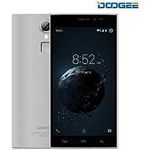 Móviles y Smartphones Libres, DOOGEE F5 Telefonos Moviles Libres Baratos - 4G Android 5.1 - MT6753 Octa-Core - 3GB RAM + 16GB ROM - 5.5 Pantalla HD IPS - 5.0MP + 13.0MP Cámara - Dual SIM - Batería de 5V 2A, 3000mAh (Gris)