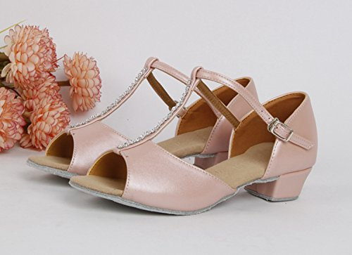 Miyoopark ,  Mädchen Tanzschuhe Pink-3.5cm Heel