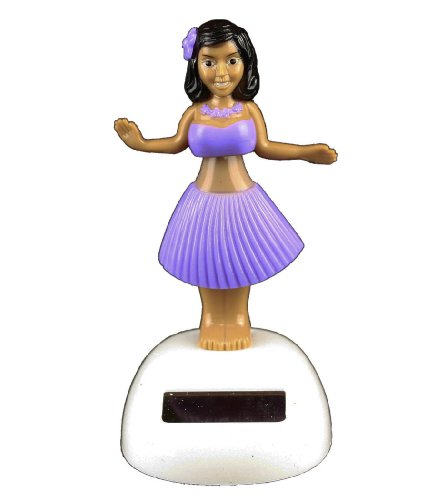 HAAC Solar Wackelfigur Hawaii Tänzerin Größe 8 cm Farbe pink, gelb, lila oder grün (Solar Hula Girl)