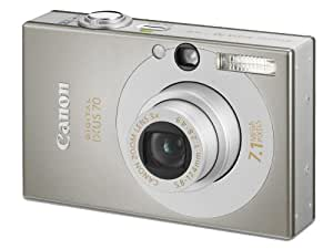 Canon IXUS 70 Digitalkamera (7 Megapixel, 3-fach opt. Zoom, 6,4 cm (2,5 Zoll) Display) silber