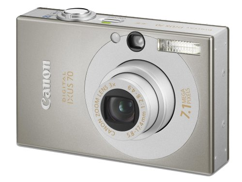 Canon IXUS 70 Digitalkamera (7 MP, 3-fach opt. Zoom, 6,4cm (2,5 Zoll) Display) silber Secure Digital Sd Card Lcd