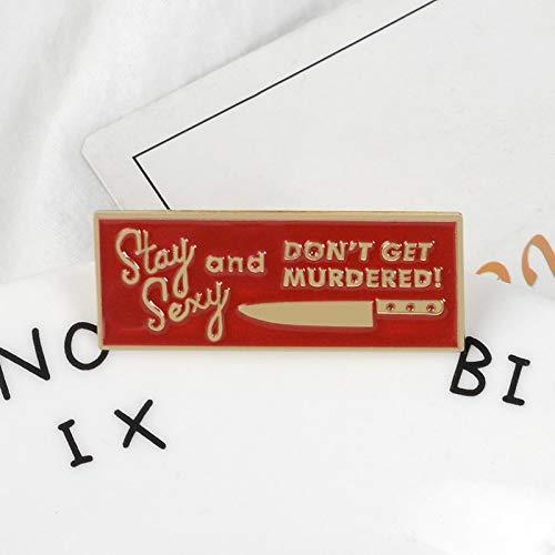 LFDHZ Stay Laple pins Rotes Blut und Messer Broschen Abzeichen Rucksack Tasche Hut Lederjacken Mode-Accessoire - Messer, Hut-pins