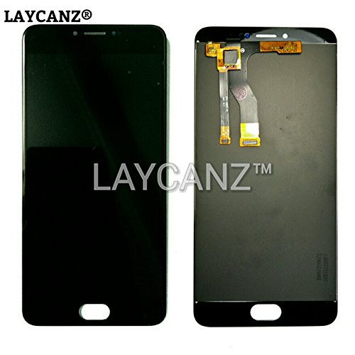 LAYCANZ Original for Meizu M3 Note 5.5inch Black Full LCD Display Screen Monitor + Touch Screen Digitizer Glass Panel Assembly + Aluminium 5in1 Tools