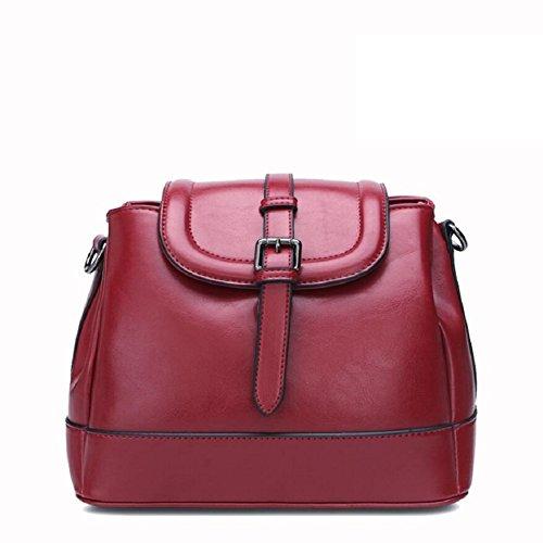 Z&N Qualität Damen Umhängetasche Handtasche Diagonalpaket Multi-Tasche lässig Reisetasche Messenger Kreuztasche Party Hochzeit Red wine