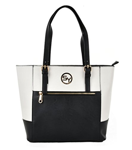 Sally-Young-Ladies-Quality-Stylish-Large-Oversized-Patchwork-Tote-Fashion-Handbag-With-Zipped-Enclosure