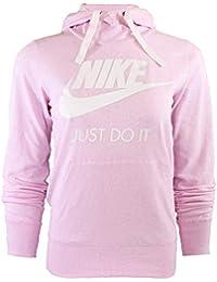 Nike W NSW Gym VNTG Hoodie HBR Sweatshirt, Mujer, Pink Foam/Sail,