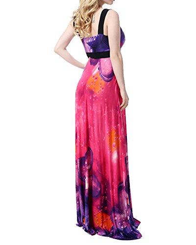 Elegante Donna Vestito Lunghi Vintage Bohemian Floreale Lungo Abito da Sera Come Immagine