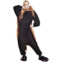 Pijamas Mujer Hombre-Disfraces Anime Cosplay Ropa de Dormir Franela de una Pieza, Oso XL