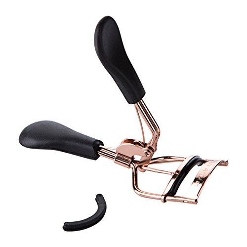 Clip en acier inoxydable sourcil sourcil sourcil maquillage beauté clip pince clip-cils Recourbe cils sourcil épiler champagne