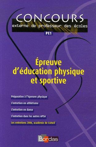 Epreuve d'éducation physique et sportive par Aline Blanchouin, Françoise Darq