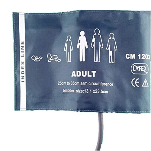 Gimax 30 Stück normale Erwachsene, wiederverwendbar, Nylon, wiederverwendbar, NIBP-Manschette, Einzelschlauch, Blase innen, Monitor, Armmanschettenverbinder -