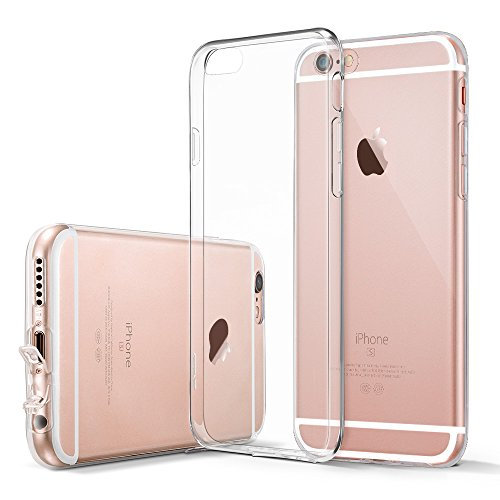 iPhone 6 / 6S Case, by Tech Corp Ultra Thin Transparent Clear Soft Gel TPU Silicone Case Cover for Apple iPhone 6/ 6s (R Fall Nur Iphone 6)
