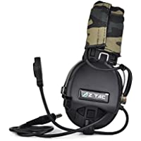 Radio Z-Tactical Z111 Sordin Style Annulation de bruit Ptt Wargame Hunting Headset WorldShopping4U (BK)