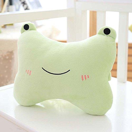 Morbuy Nette Tier Auto Kopfstütze kreative Cartoon Kissen Spielzeug Nackenkissen Auto Kopfstütze Halsstutze Kissen (Frosch)