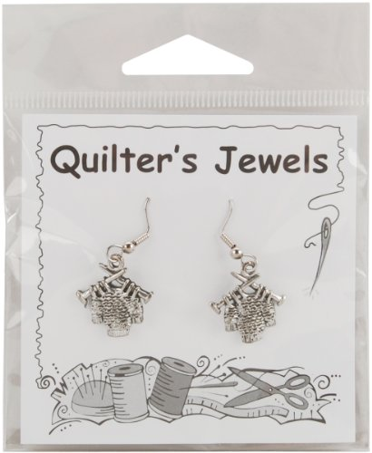 Charming Accents French Wire Earrings-Sweater - Quilting Cutter
