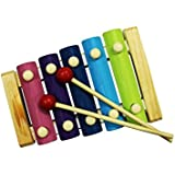 Hua You Ourz Small Multicolor Wooden Xylophone Musical Toy With 5 Notes For Kids
