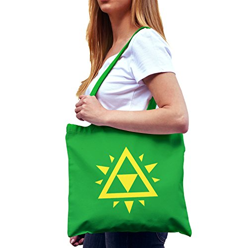 NERDO - Triangle Force Logo - Stoffbeutel, (Zelda Ganondorf Kostüm)
