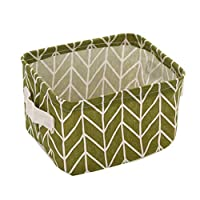 ‏‪Cabilock 5pcs Fabric Storage Bin Clothes Storage Basket Waterproof Toy Storage Box Foldable Storage Box Rope Basket for Nursery Bathroom Diaper Towels‬‏