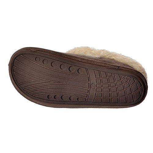 Jo & Joe Chiltern Fur Lined Fur Collar Slipper Boot - Cognac, Dark Brown Dark Brown