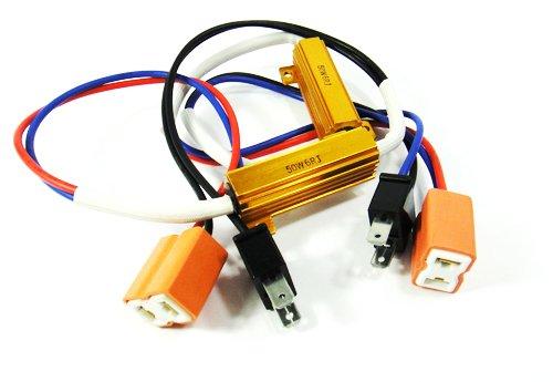 2x H7 499 Birne LED Nebelscheinwerfer Scheinwerfer DRL Canbus Error Free Widerstand Kabelbaum Buchse (Led-nebelscheinwerfer H7)