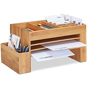 Tischorganizer Schreibtisch Box Drehbar Office aus Bambus