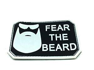 Patch Airsoft PVC Vert Foncé Fear The Beard Noir