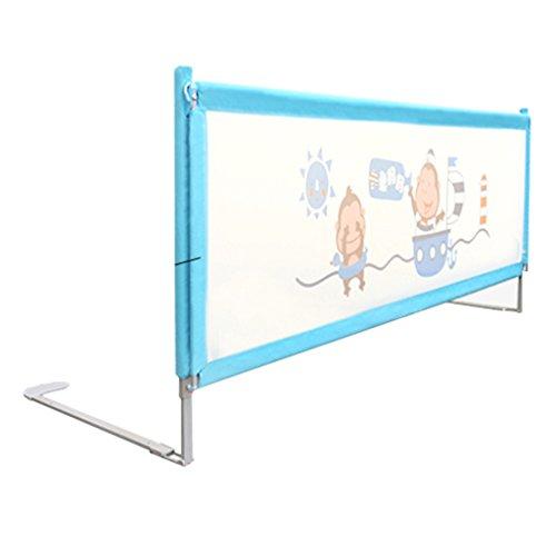 Kinderbett-Schutzleiste, vertikale Hebebühne für Gitterbetten, Bettseitenschutz, Anti-Fall-Bettzaun höhenverstellbar (Farbe: Blau)