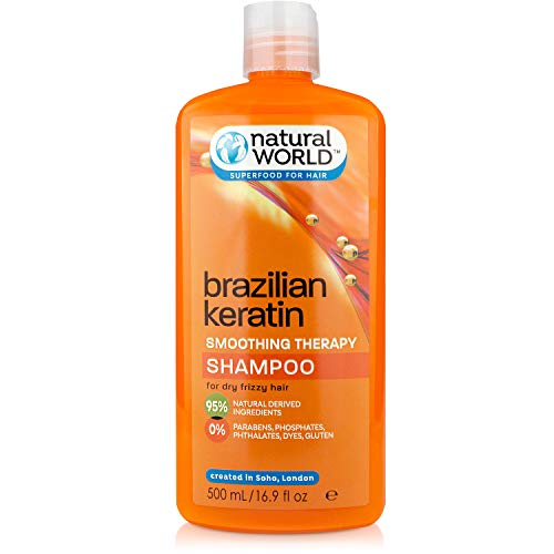 Organic World 500ml Brazilian Keratin Smoothing Therapy Frizz Free for Dry Hair Shampoo