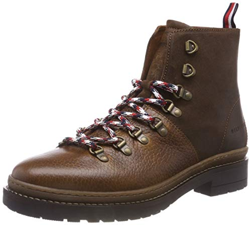 Tommy Hilfiger Herren Elevated Outdoor Hiking Combat Boots, Braun (Cognac 606), 43 EU