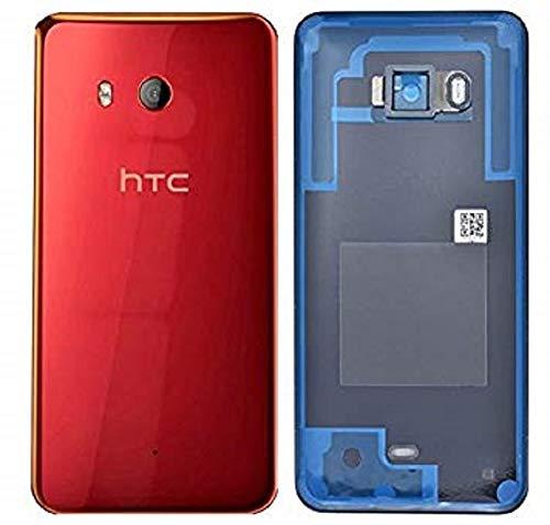 Original Akkudeckel für HTC U11 Back Cover Gehäuse Schale Rückseite Rot Glas Kamera Linse/Werkzeug Back Cover Gehäuse