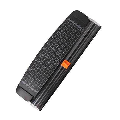 JLS 12-Zoll-A4 schwarze Papierschneidemaschine mit Multifunktion, automatisch Sicherheitsschutz beim Schneiden (909-4)