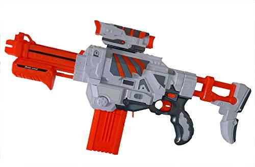 Brigamo ✩ Sturmtruppen Deluxe DartBlaster, Elektrisches Gewehr, Spielzeugblaster Gewehr inkl. 12 Schuss Munition ✩