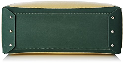 Arcadia Tobago, Borsa a Mano Donna, 14 x 29 x 46 cm (W x H x L) Verde (Verde Giallo)
