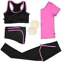 Blancho Bedding 4 Piezas de los chándales de Jogging Trajes/Traje Yoga/Set de Entrenamiento de la Aptitud de Las Mujeres