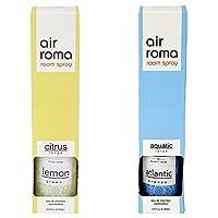 AirRoma Combo of Atlantic Breeze Fragrance Air Freshener Spray 200 ml & Green Lemon Fragrance Air Freshener Spray 200 ml