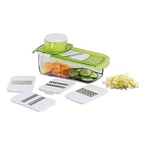Kitchen Artist MEN217 Mandoline avec Bac récupérateur Vert/Blanc