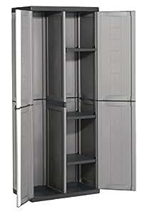 abm 702274 jolly schrank besenhalter grau schwarz baumarkt. Black Bedroom Furniture Sets. Home Design Ideas