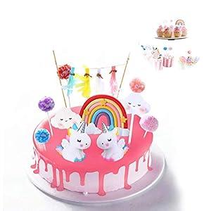 Cake Topper Unicornio, Decoración De