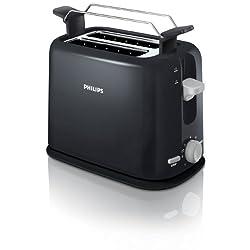 Philips HD2567/20 Toaster (950 Watt, 7 Stufen, Brötchenaufsatz, Stopp-Taste) schwarz