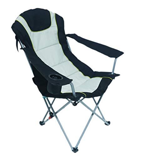 Homecall - Silla de camping (negro y plata)