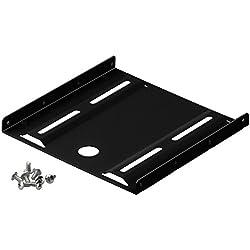 """Goobay 93990 2,5"""" Festplatten-Einbaurahmen auf 3,5"""" - 1-fach geeignet für den Einbau einer 2,5"""" Festplatte in einen 3,5"""" Gehäuseschacht, Schwarz"""
