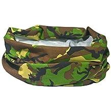 Ruffnek Accessoire De Tête Multifonction Cache-col pour hommes, Femmes & Enfants - Design Camouflage / Camouflage Bois Armée
