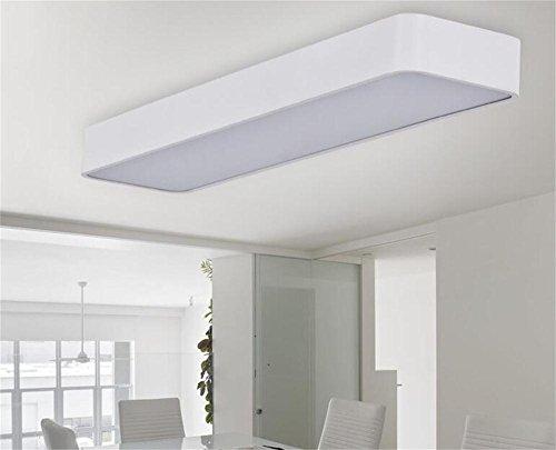 lampadario portato moderno e minimalista, di forma rettangolare camera corridoio soffitto lampadario pranzo lampadario per l'ufficio -- [Efficienza: A +] ( colore : Bianca )