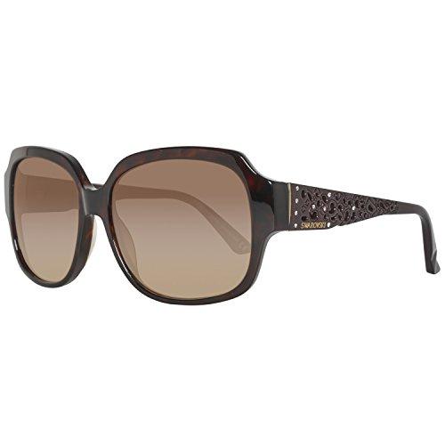 Swarovski Damen SK0054-5852F Sonnenbrille, Braun (Dark Havana), 58