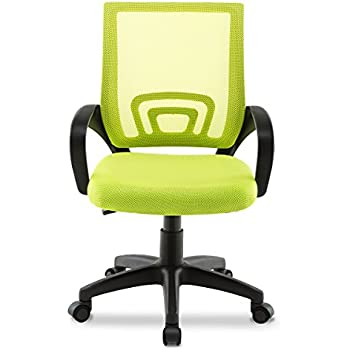 Jl comfurni office chair adjustable swivel high back mesh for Best chair for working at home