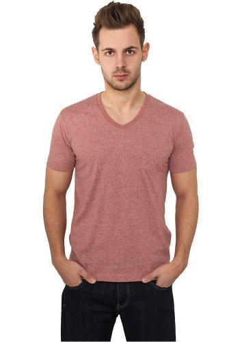 Urban Classics Herren T-Shirt Melange V-Neck Pocket Tee Blue-White