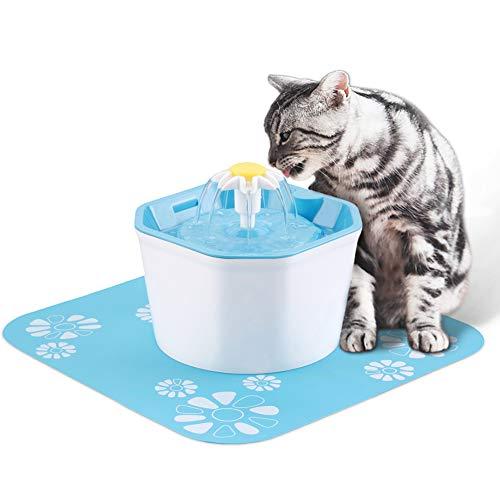 Soddyenergy Fontana di Gatto, distributore Automatico dell'Acqua per Animali Domestici della Fontana dell'Acqua 1.6L, Fontana di Cura di Salute del Cane/Gatto e Fontana igienica del Cane
