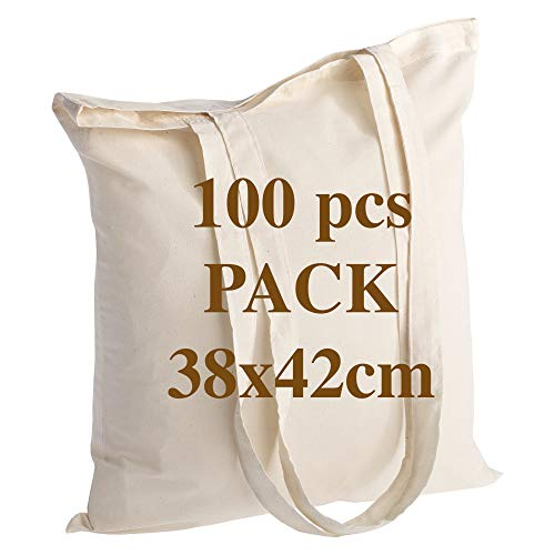 POLHIM Bolsa de algodón de Calidad 145 g/m2 tamaño 38x42 cm...