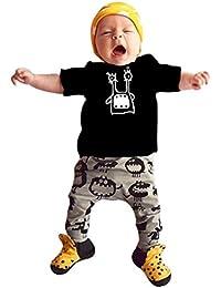 LANDFOX La ropa corta de los trajes del monstruo de la manga del bebé de la manga del bebé recién nacido