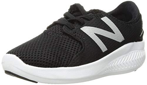 New Balance Boys' Coast V3 FuelCore Running Shoe, Black/White, 4 M US Toddler